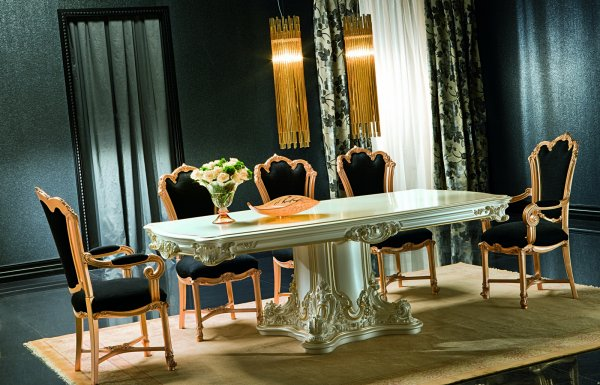 Baroque dinning room apollonia for Baroque dining furniture