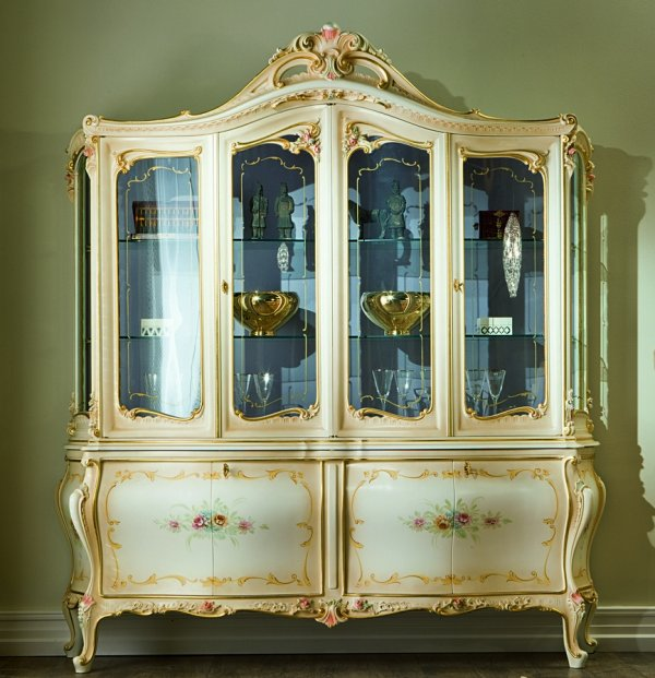 Baroque dinning room dafne for Baroque glass door